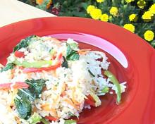 Пържен ориз със зеленчуци по китайски