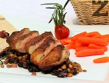 Пиперовано патешко филе с рагу от леща