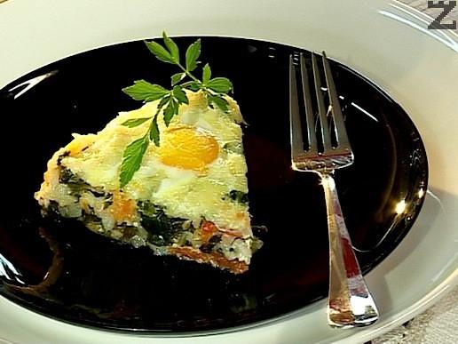Запечен спанак с яйце и сирене