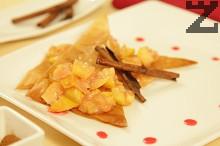 Хрупки с ябълки и сироп от нар