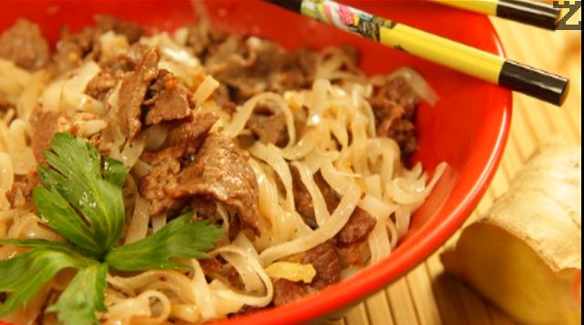 Телешко със спагети по виетнамски