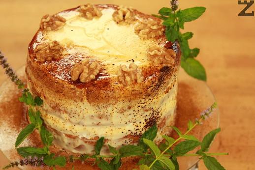 Орехова торта с маскарпоне