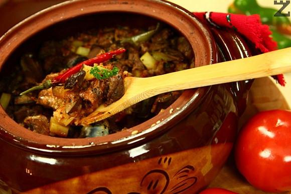 Касапски гювеч с агнешко месо