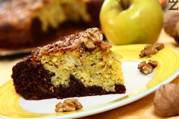 Ябълков мраморен кекс