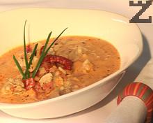 Пилешка дроб чорба с домати и ориз