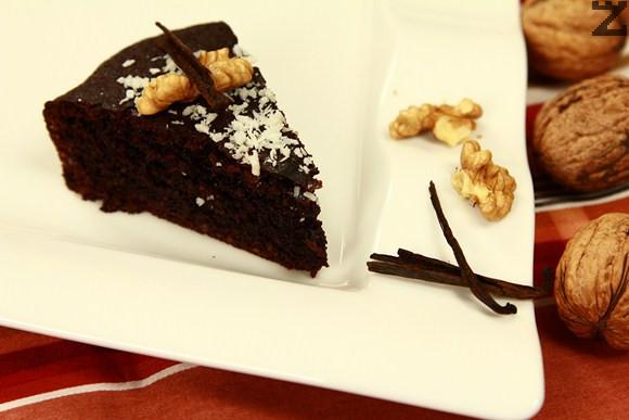 Шоколадов орехов кекс без брашно