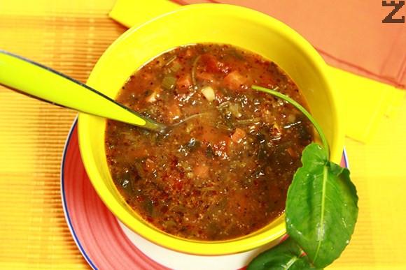 Супа от киселец с амарант