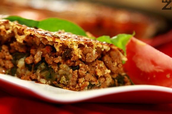 Мусака с лапад и ориз