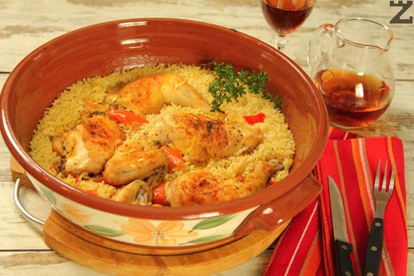 Пияно пиле с ориз