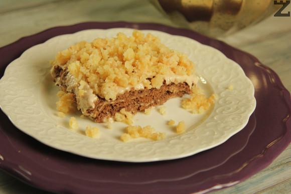 Бисквитена торта с банани и карамел