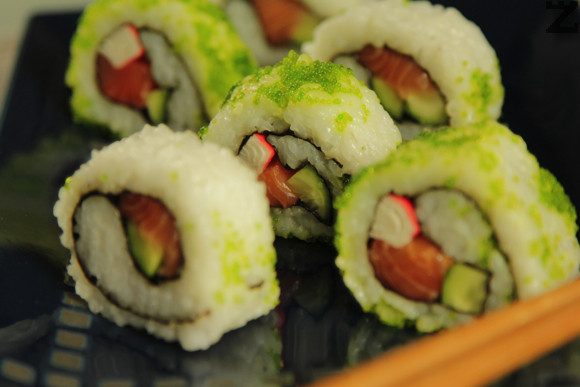 Суши Урамаки - обърнато суши