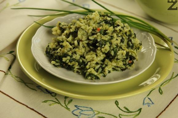 Спанак с ориз