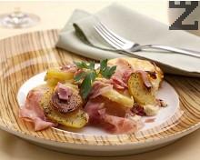 Картофено гювече с шунка