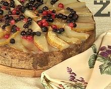 Домашна торта с круши и боровинки