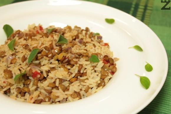 Ориз пилаф с леща