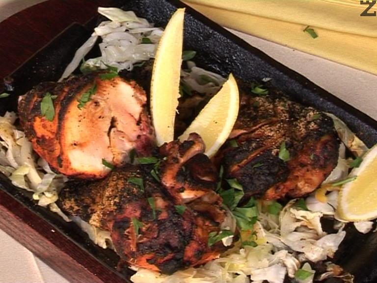 Пиле тандури - печено на пещ
