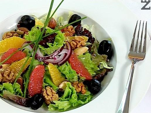 Зелена цитрусова салата