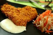 Рошаво пиле със сос от топено сирене