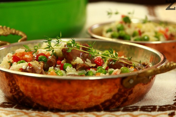 Ориз с воденички и зеленчуци