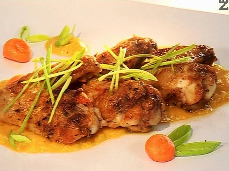 Пилешки крилца в сос от праз