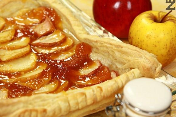 Постна ябълкова пита