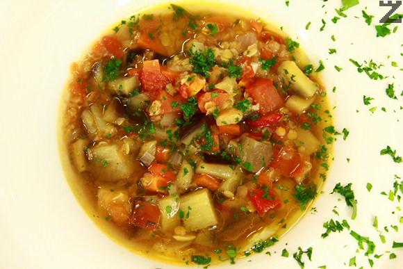 Супа с патладжан и леща