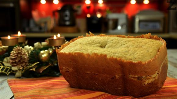 Хляб със сирене в домашна хлебопекарна