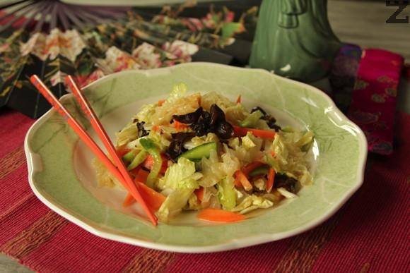 Китайска салата с гъби