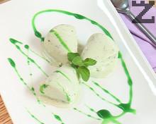 Сладолед от зелено ( синьо ) сирене