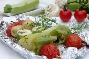 Вегетариански шиш-кебап