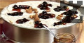 Оставяме тортата да стегне около час в хладилник и тогава покриваме със сладко от череши и бадеми.
