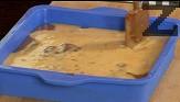 Поливаме отгоре и тиквената смес. С помощта на шпатулата правим мраморни шарки. Печем в предварително загрята на 160 градуса фурна за 60 мин.