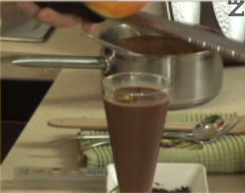 По желание върху всяка напитка може да поръсим настъргана портокалова кора.